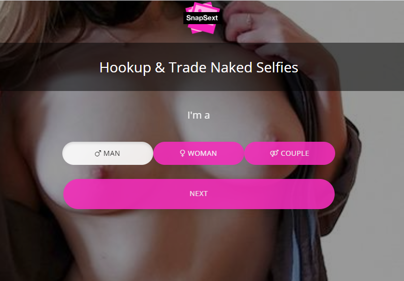 SnapSext main page