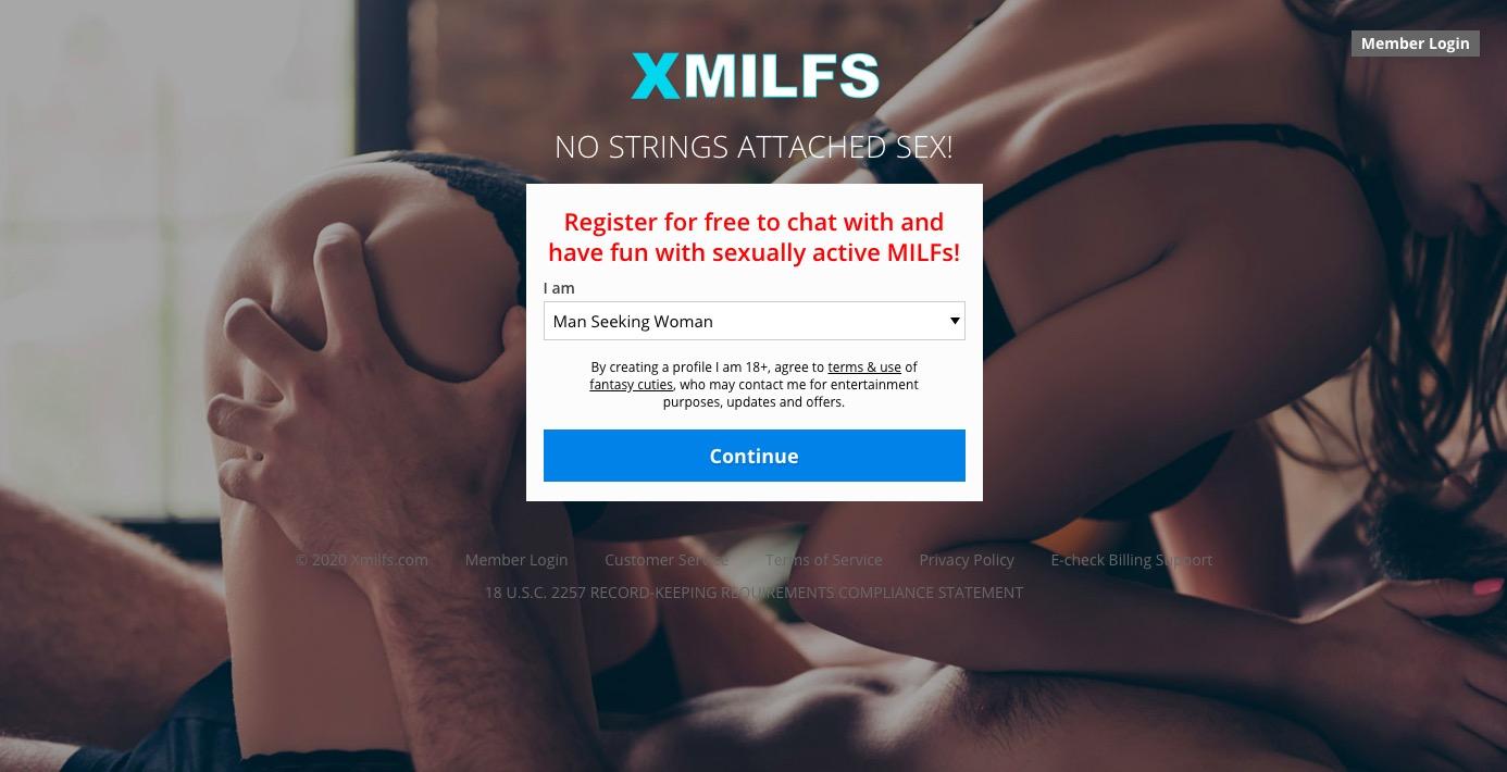 Xmilfs main page